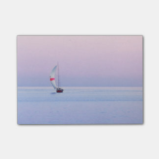Pastel Seascape with a Sailboat Post-it® Notes
