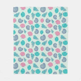 Pastel Seashell Pattern 1 Fleece Blanket