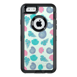 Pastel Seashell Pattern 1 OtterBox Defender iPhone Case
