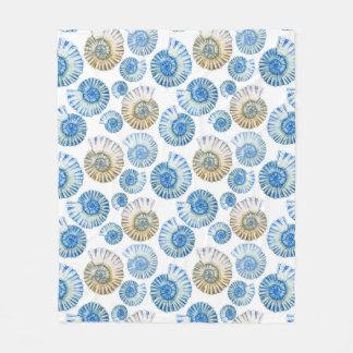 Pastel Seashell Pattern 2 Fleece Blanket