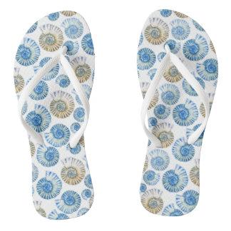 Pastel Seashell Pattern 2 Flip Flops