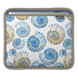 Pastel Seashell Pattern 2 iPad Sleeve