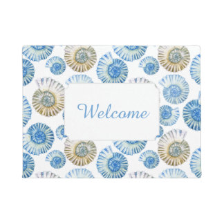 Pastel Seashell Pattern | Add Your Text Doormat
