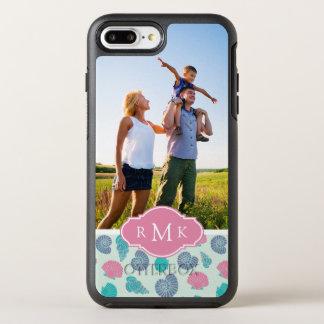 Pastel Seashell Pattern | Your Photo & Monogram OtterBox Symmetry iPhone 8 Plus/7 Plus Case