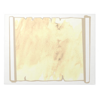 Pastel Sepia Watercolor Scroll Planner Add On Notepad