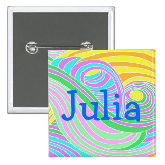 Pastel Seventies Trippy Background Buttons
