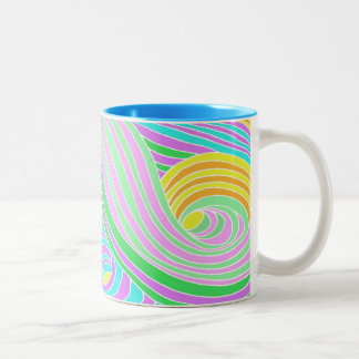 Pastel Seventies Trippy Background Coffee Mugs