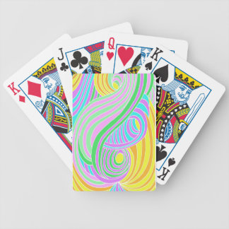 Pastel Seventies Trippy Background Deck Of Cards