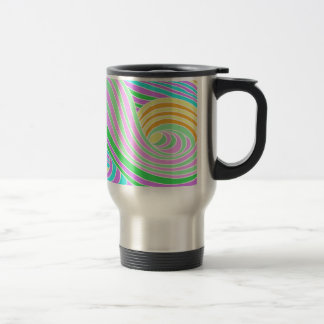 Pastel Seventies Trippy Background Stainless Steel Travel Mug
