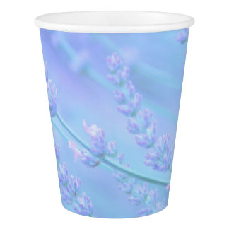 pastel shades of lavender paper cup