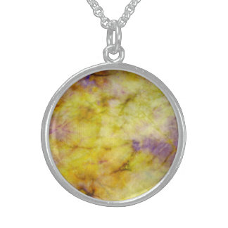 Pastel Shades of Yellow Round Necklace
