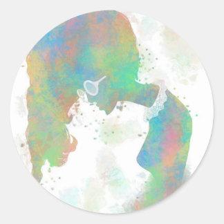 Pastel Silhouette Sticker