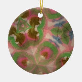 Pastel silk christmas ornament