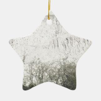 Pastel Sketch of Hill in Tucson Ceramic Star Decoration