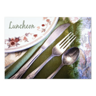 Pastel Sketch of Place Setting Luncheon Card