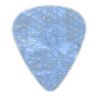 Pastel Sky Blue Bath Bubbles Seafoam Blueberry Pearl Celluloid Guitar Pick