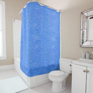 Pastel Sky Blue Bath Bubbles Seafoam Blueberry Shower Curtain