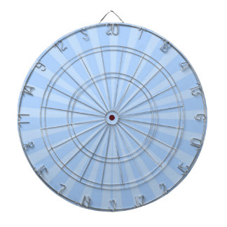 Pastel Sky Blue Radiant Stripes Pattern Dartboard