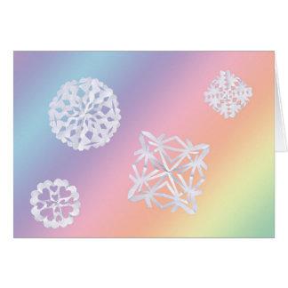 Pastel Snowflake Blank Greeting Card