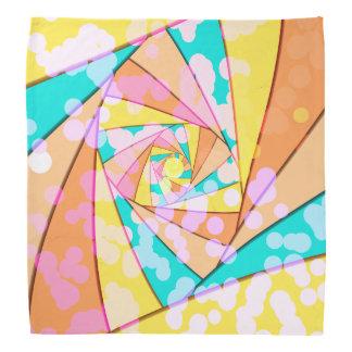 Pastel Spiral Fractal Bandanna