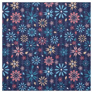 Pastel spring flowers fabric
