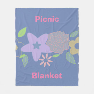 Pastel spring flowers fleece blanket