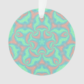 Pastel Star Mandala Ornament