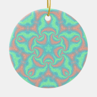 Pastel Star Mandala Round Ceramic Decoration
