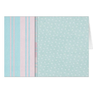Pastel Stars and Stripes Greeting Card