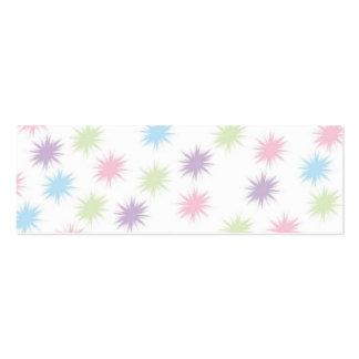 Pastel Stars  Bookmark Business Card Templates