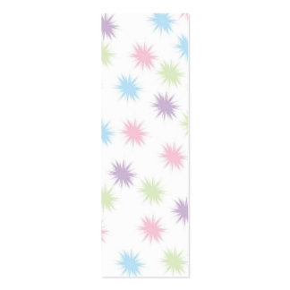 Pastel Stars  Bookmark Double-Sided Mini Business Cards (Pack Of 20)