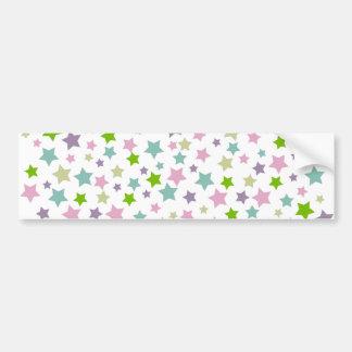 Pastel stars pattern bumper sticker