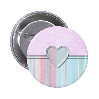 Pastel Stripe Heart Pins