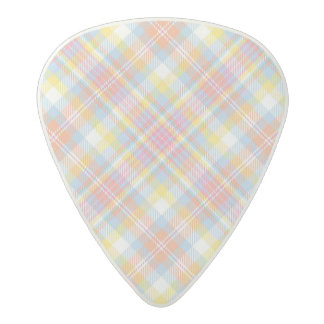 Pastel Stripe Plaid Acetal Guitar Pick