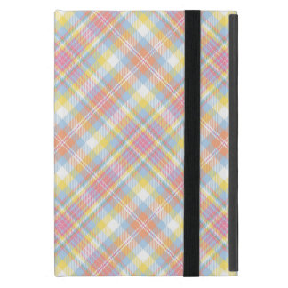 Pastel Stripe Plaid iPad Mini Covers