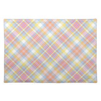Pastel Stripe Plaid Placemat