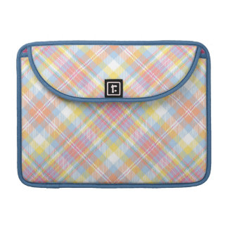 Pastel Stripe Plaid Sleeves For MacBook Pro