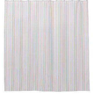 Pastel Stripe Shower Curtain