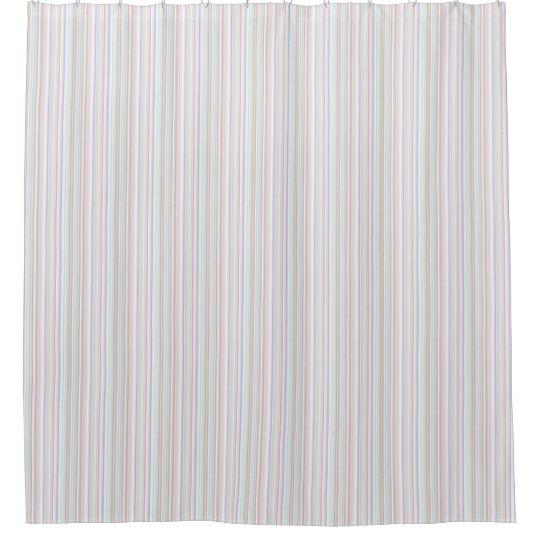 Pastel Stripe Shower Curtain