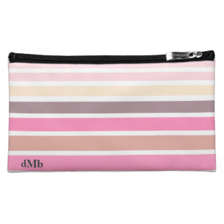 Pastel striped Cosmetic Bag