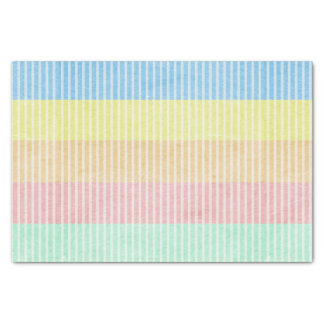 "Pastel Stripes 10"" X 15"" Tissue Paper"