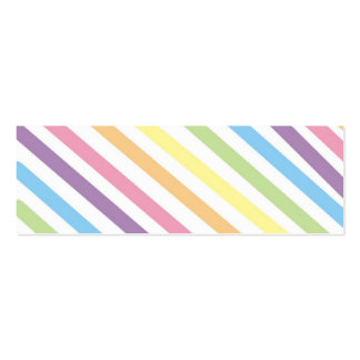 Pastel Stripes  Bookmark Pack Of Skinny Business Cards