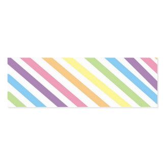Pastel Stripes  Bookmark Business Card