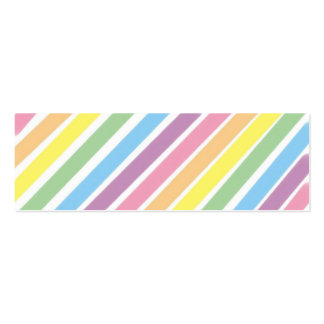 Pastel Stripes  Bookmark Business Card Template