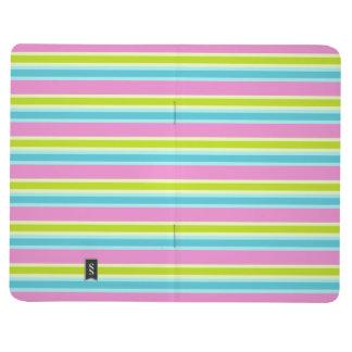 Pastel Stripes custom pocket journal
