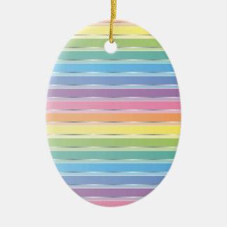 Pastel Stripes Ornaments