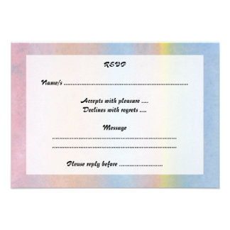 Pastel Stripes Personalized Announcement