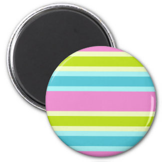 Pastel Stripes magnet, customize Magnet