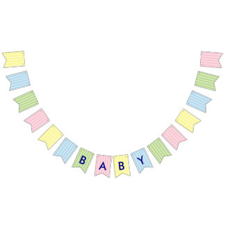 Pastel Stripes | Pink, Yellow, Blue, Green Baby Bunting