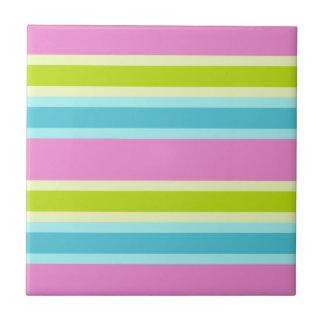 Pastel Stripes tile, customize Tile